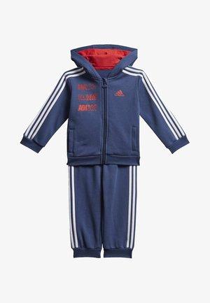 HOODED FLEECE JOGGER SET - Survêtement - blue/red/white
