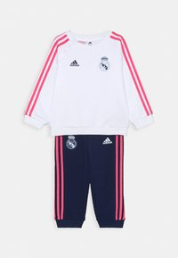 adidas Performance - REAL MADRID FOOTBALL TRACKSUIT BABY SET - Chándal - white/dark blue - 0