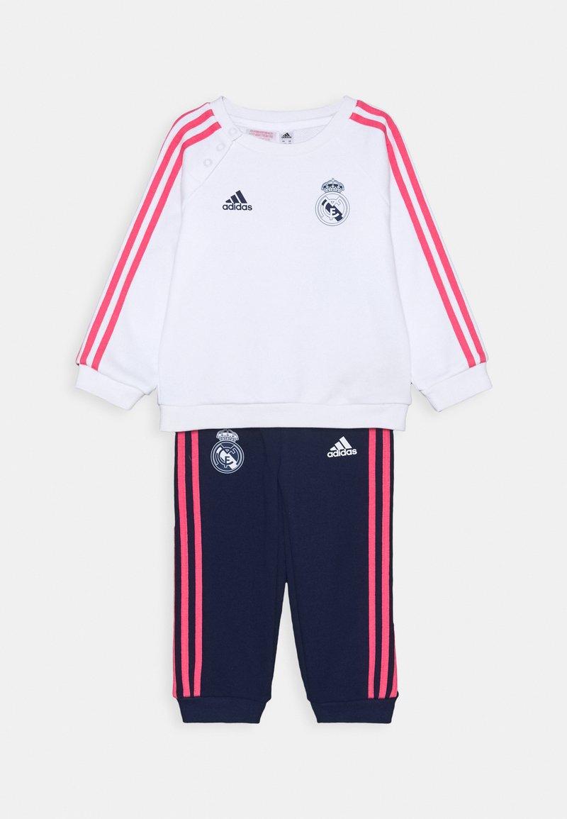 adidas Performance - REAL MADRID FOOTBALL TRACKSUIT BABY SET - Chándal - white/dark blue