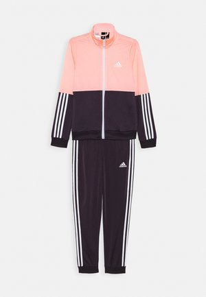 ESSENTIALS PRIMEGREEN SPORTS TRACKSUIT - Tracksuit - coral/purple/white