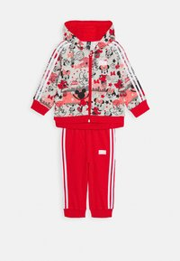 adidas Performance - Tracksuit - light grey heather/red/white - 0