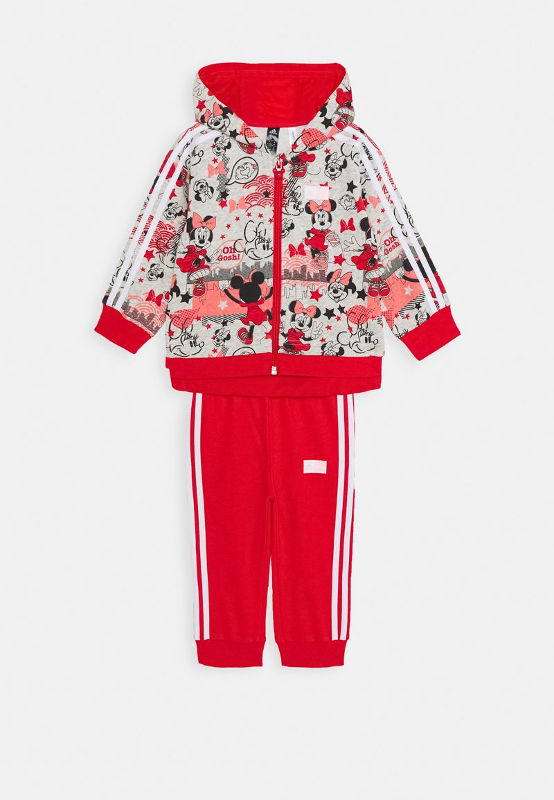 adidas Performance - Tracksuit - light grey heather/red/white