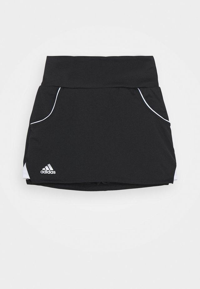 CLUB SKIRT - Sportkjol - black/silver/white