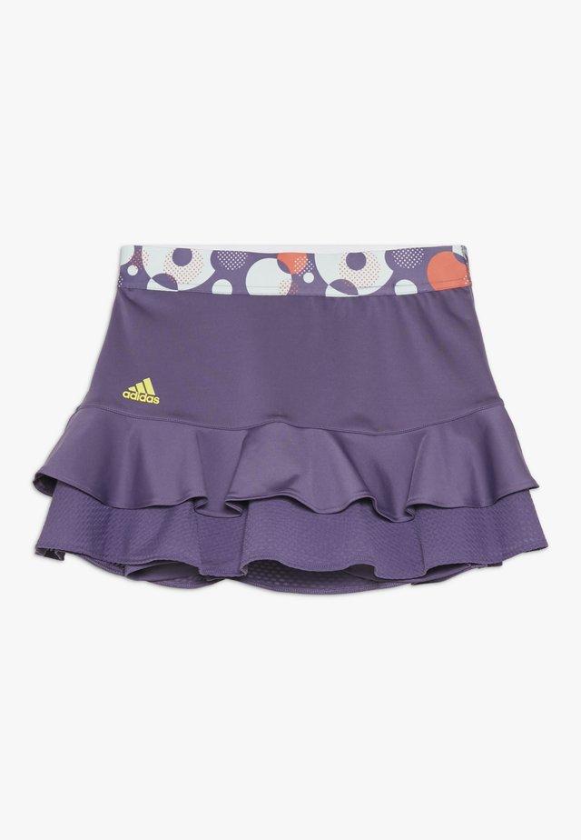 FRILL SKIRT - Falda de deporte - purple/neon yellow