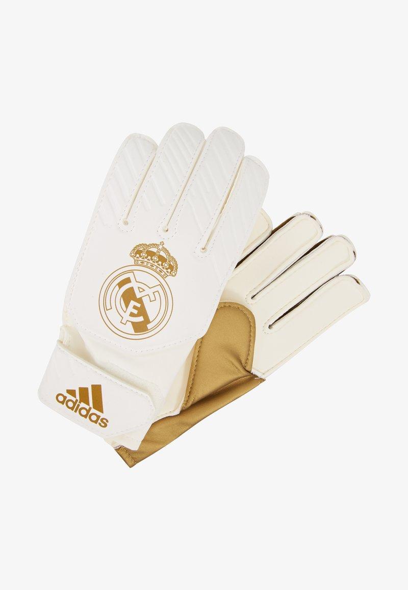 adidas Performance - REAL MADRID - Gants de gardien de but - gold metallic/white