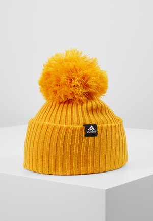 FAT BRIM BEANIE - Mössa - active gold/black/white