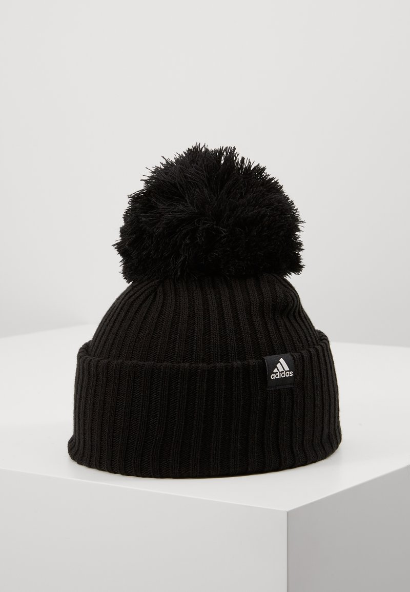 adidas Performance - FAT BRIM BEANIE - Huer - black/white/white
