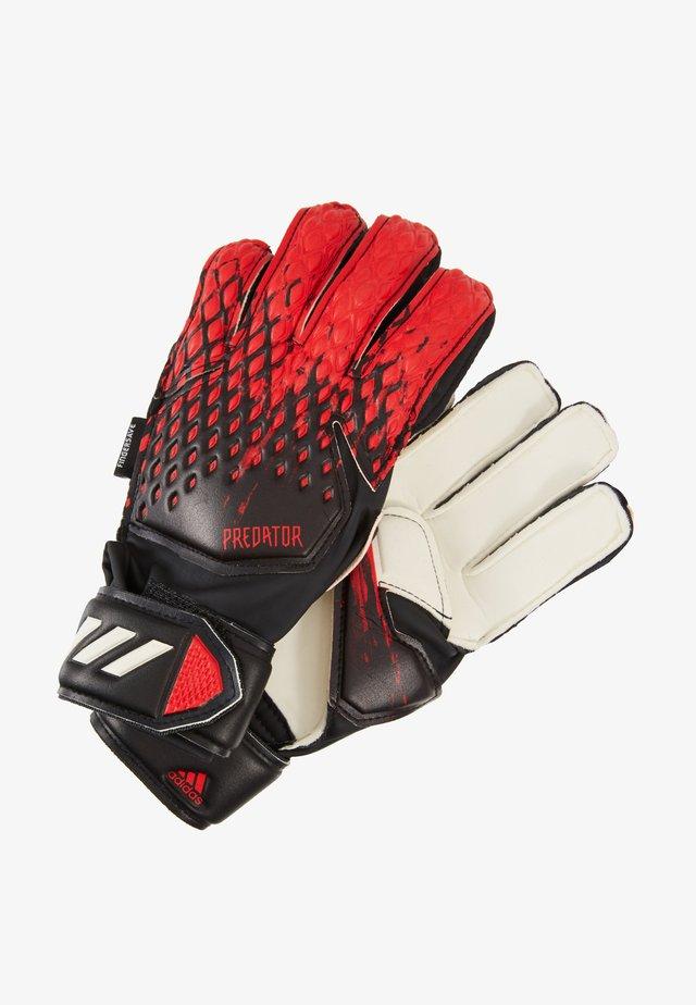 Goalkeeping gloves - black/actred