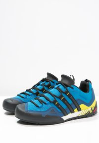 adidas Performance - TERREX SWIFT SOLO - Hiking shoes - unity blue/core black/unity lime - 2