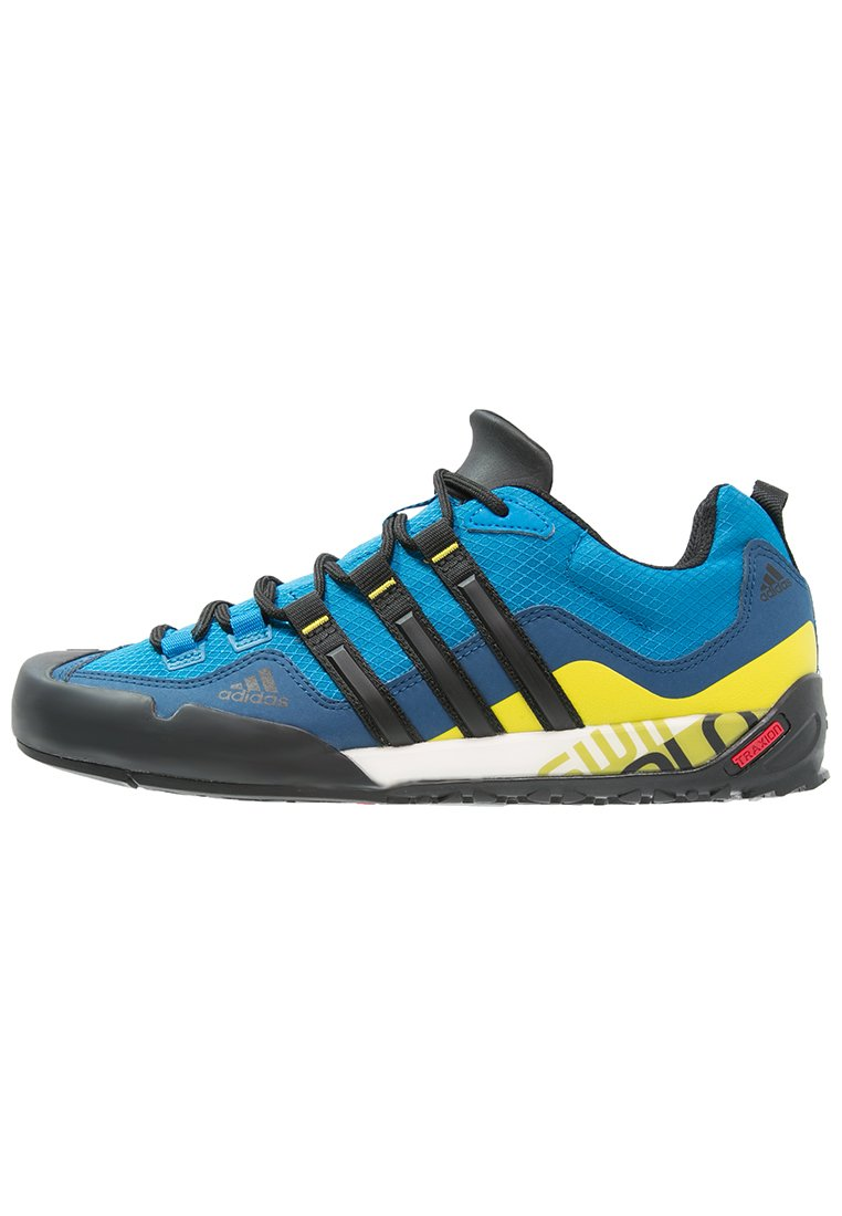 adidas Performance TERREX SWIFT SOLO - Obuwie hikingowe - unity blue/core black/unity lime