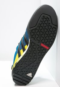 adidas Performance - TERREX SWIFT SOLO - Hiking shoes - unity blue/core black/unity lime - 4