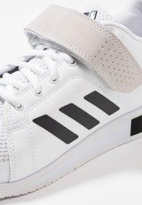 adidas Performance - POWER PERFECT 3 SHOES - Zapatillas de entrenamiento - footwear white/core black - 5