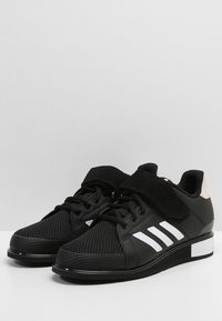 adidas Performance - POWER PERFECT 3 SHOES - Sports shoes - black/white/gold - 2