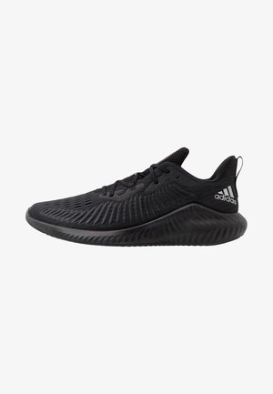 ALPHABOUNCE+ - Neutral running shoes - core black/tech silver metallic/grey six