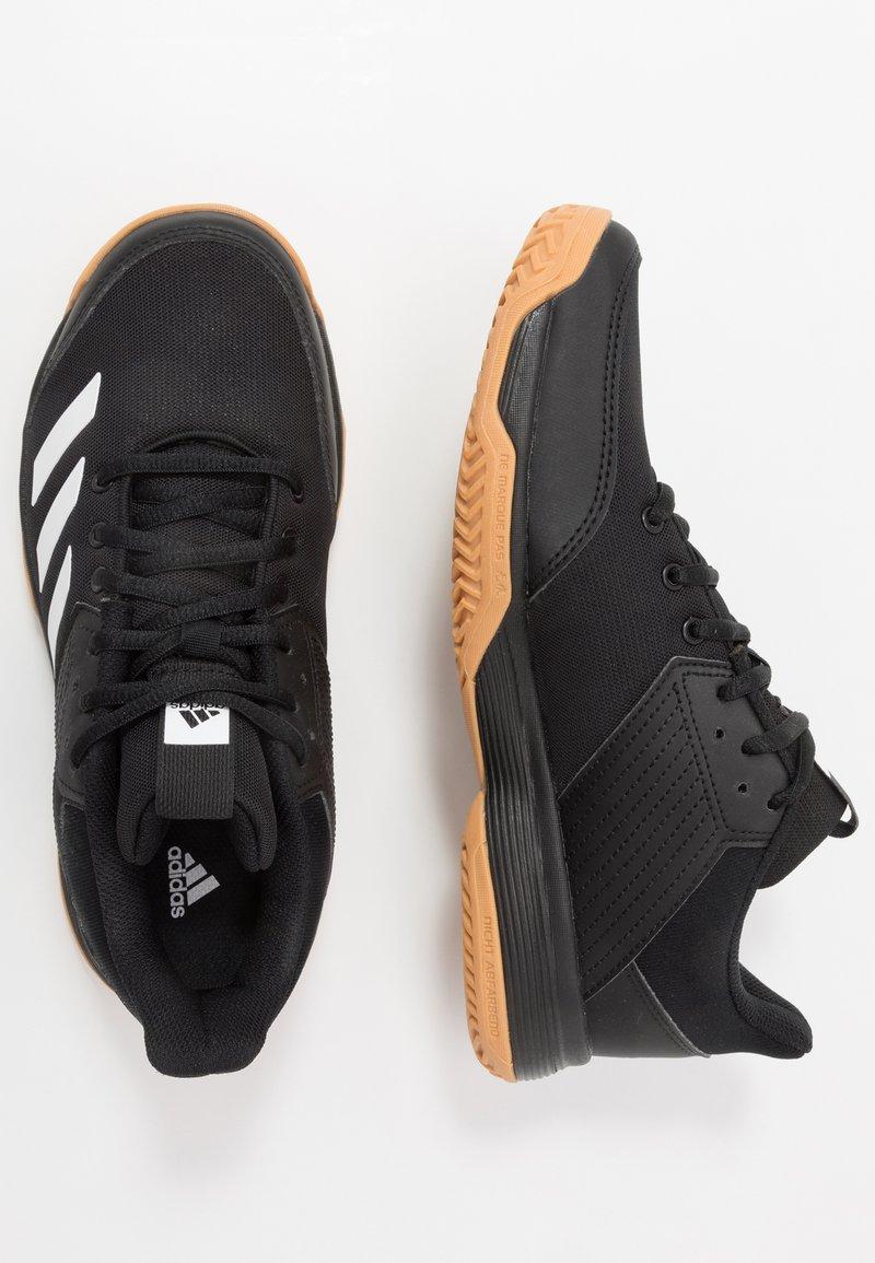 adidas Performance - LIGRA 6 YOUTH - Obuwie treningowe - core black/footwear white