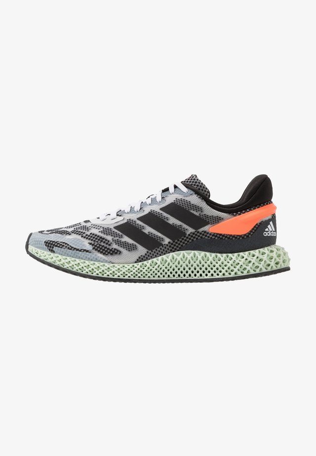 4D 1.0 - Neutral running shoes - footwear white/core black/signal coral