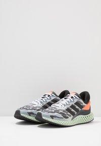 adidas Performance - 4D 1.0 - Nøytrale løpesko - footwear white/core black/signal coral - 2