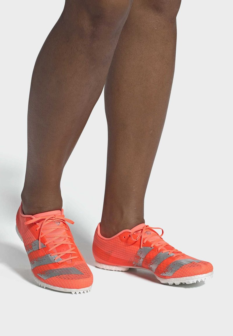 adidas Performance - ADIZERO MIDDLE DISTANCE SPIKES - Spikes - coral