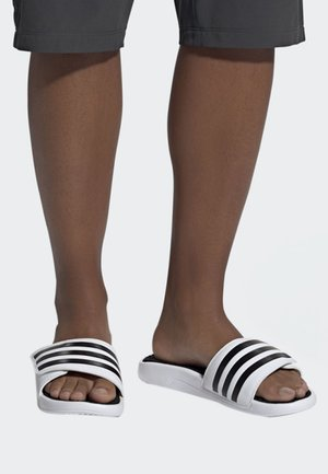ADISSAGE TND SLIDES - Pool slides - white/black