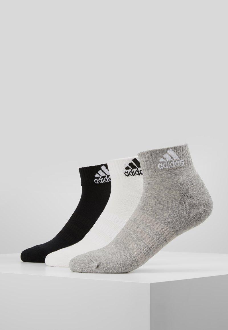 adidas Performance - CUSH ANK 3 PACK - Sportovní ponožky - medium grey/white/black