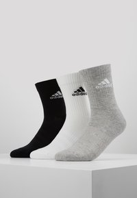 adidas Performance - CUSH 3 PACK - Sportsstrømper - medium grey heather/black - 0