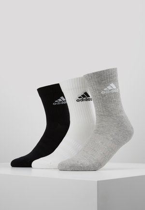CUSH 3 PACK - Urheilusukat - medium grey heather/black