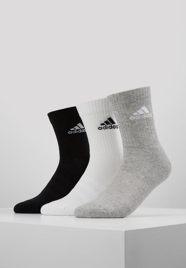 CUSH 3 PACK - Urheilusukat - medium grey heather/black