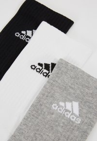 adidas Performance - CUSH 3 PACK - Urheilusukat - medium grey heather/black - 2