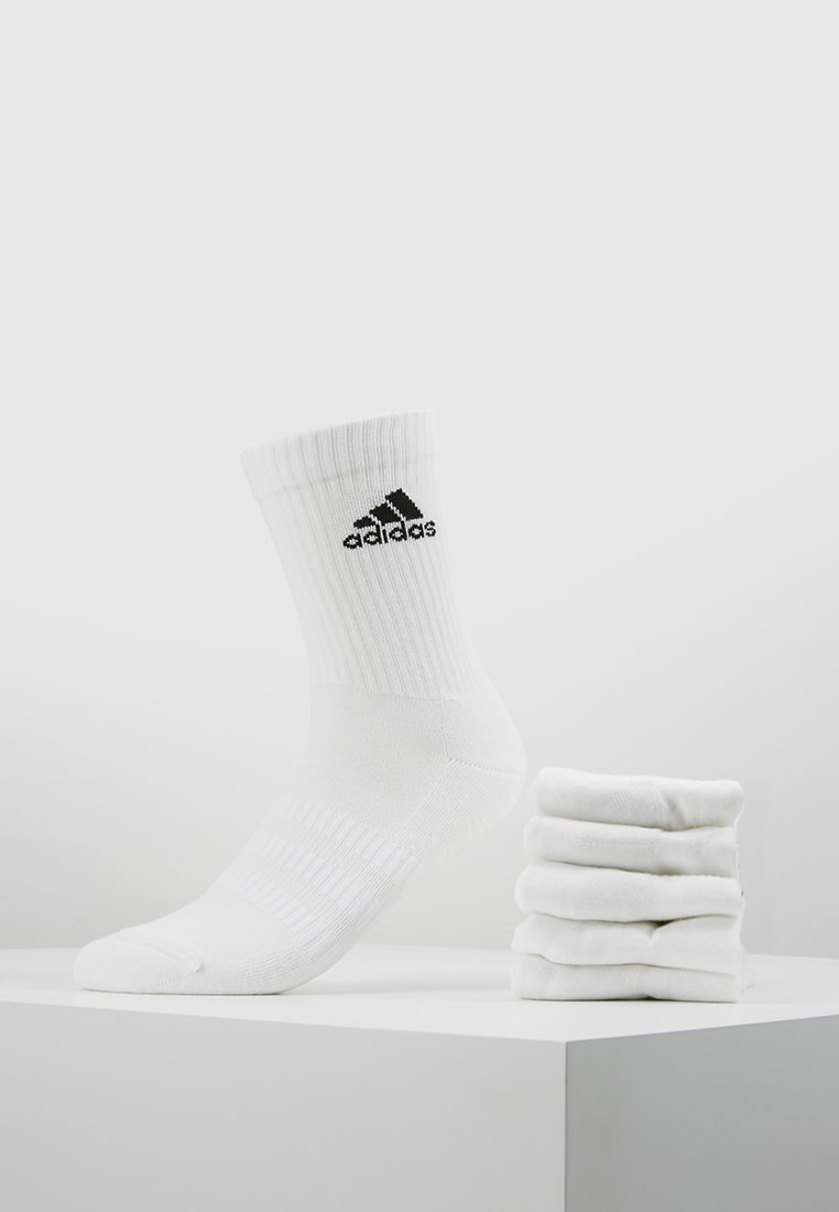 adidas Performance - CUSH 6 PACK - Chaussettes de sport - white