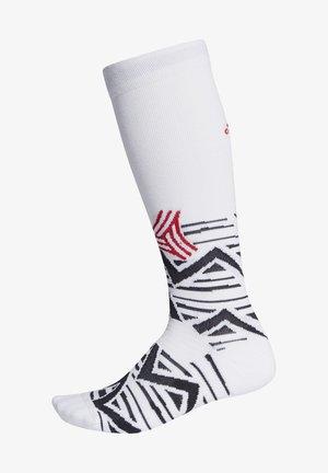 ALPHASKIN GRAPHIC CUSHIONED SOCKS - Sportsokken - white