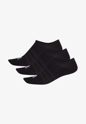 NO-SHOW SOCKS 3 PAIRS - Träningssockor - black