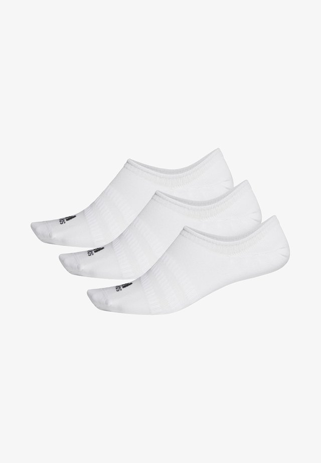NO-SHOW SOCKS 3 PAIRS - Sports socks - white