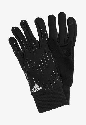 RUN GLOVES - Gloves - black/black/silver
