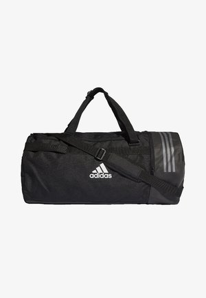 Convertible 3-Stripes Duffel Bag Large - Torba sportowa - black/white