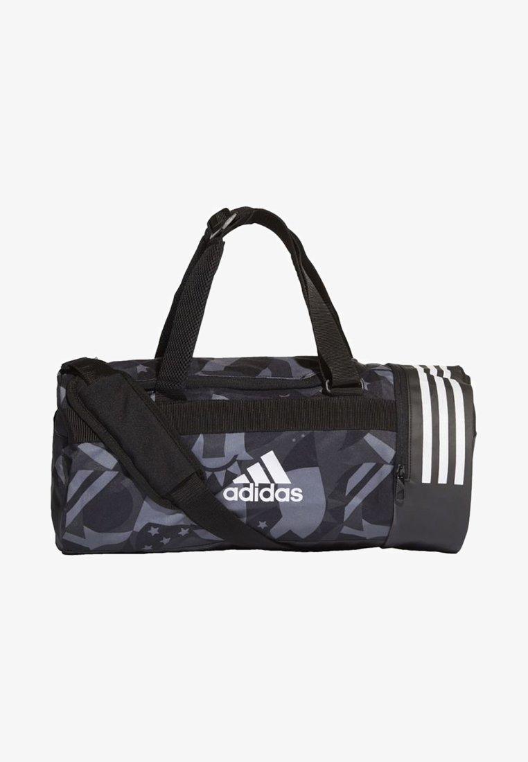 adidas Performance - 3-STRIPES CONVERTIBLE GRAPHIC DUFFEL BAG SMALL - Drawstring sports bag - black/white