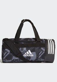 adidas Performance - 3-STRIPES CONVERTIBLE GRAPHIC DUFFEL BAG SMALL - Drawstring sports bag - black/white - 1