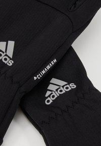 adidas Performance - GLOVES - Guantes - black/black/reflektive silver - 5