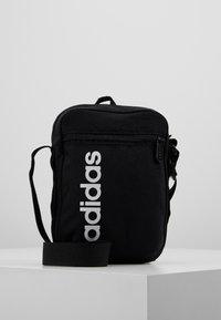 adidas Performance - ESSENTIALS LINEAR SPORT ORGANIZER BAG - Torba na ramię - black/white - 0