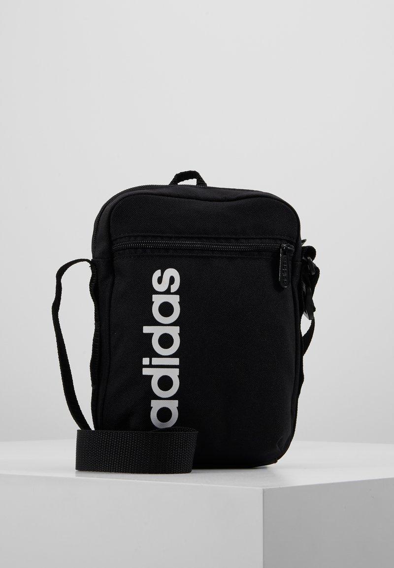 adidas Performance - ESSENTIALS LINEAR SPORT ORGANIZER BAG - Torba na ramię - black/white