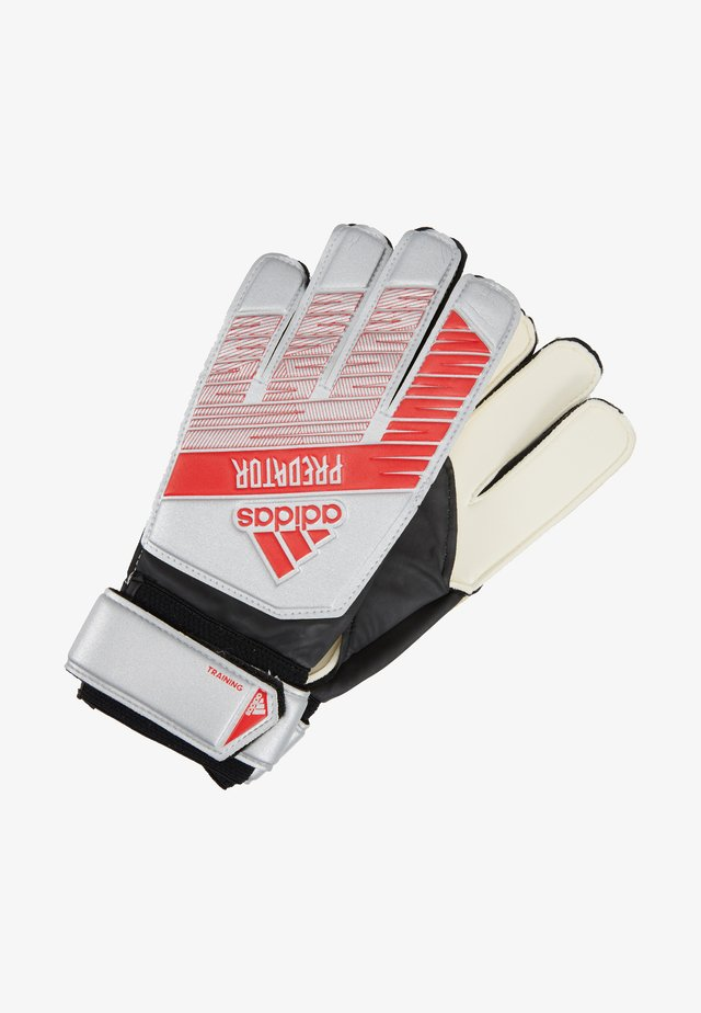 Goalkeeping gloves - silver metallic/black