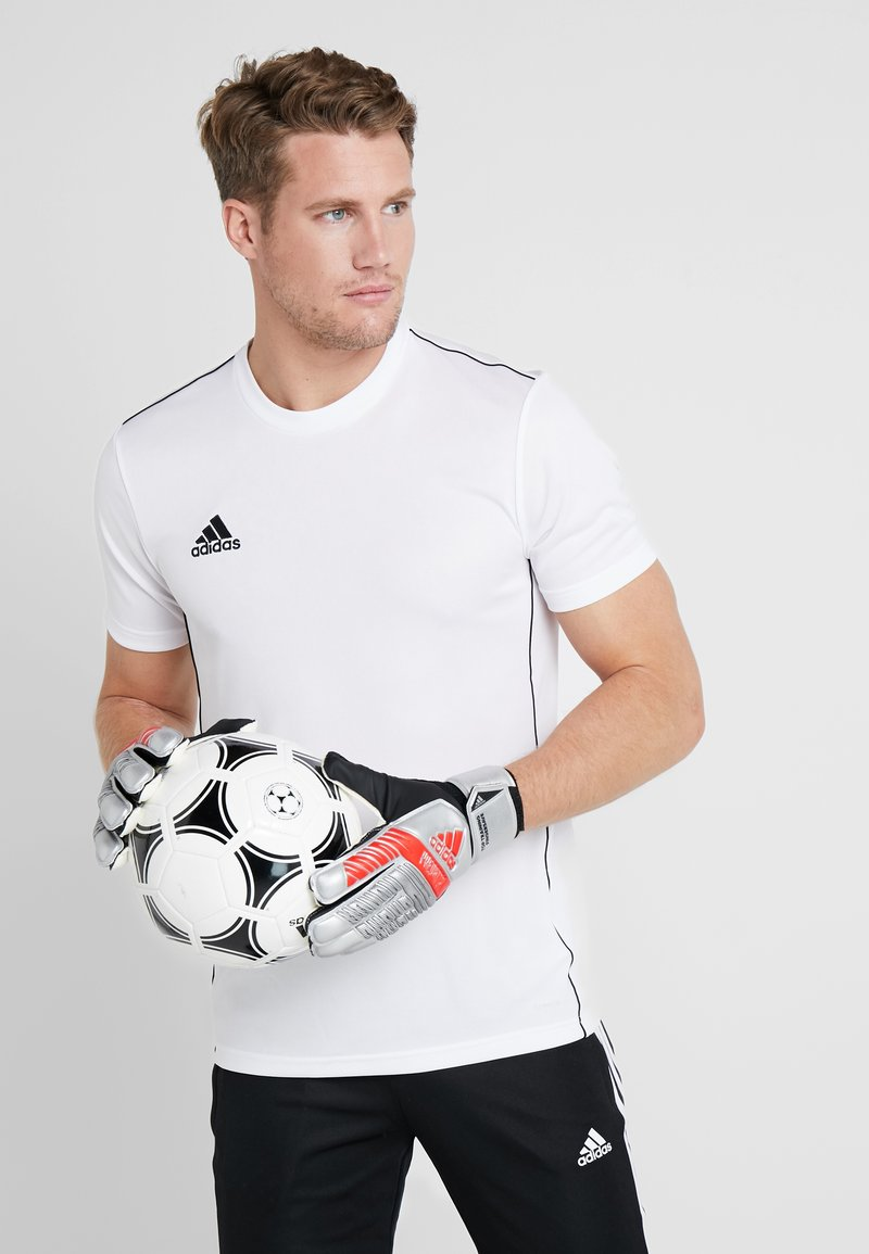adidas Performance - PREDATOR TOP TRAINING FS - Torwarthandschuh - silver metallic/black