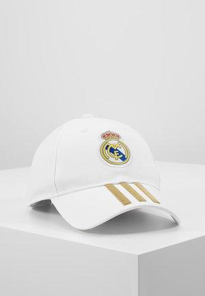 REAL MADRID - Cap - white/dark gold