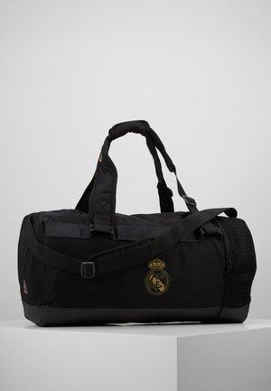 REAL MADRID - Sports bag - black/dark gold