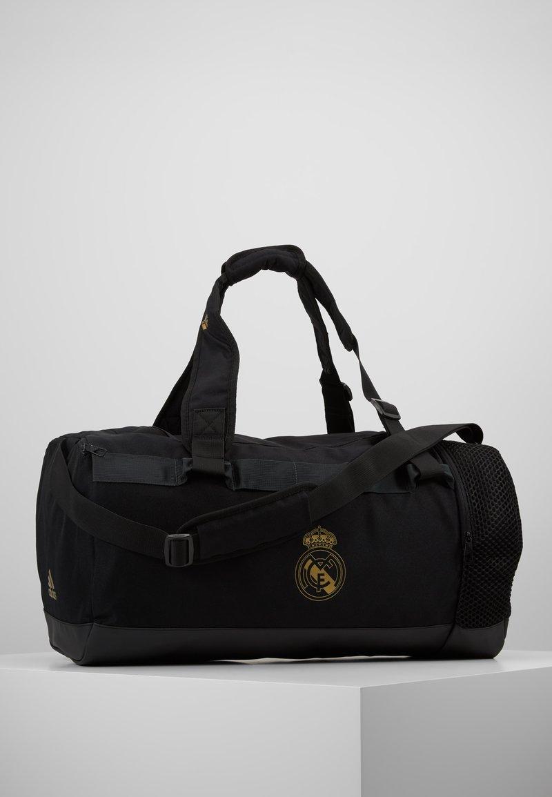 adidas Performance - REAL MADRID - Sportovní taška - black/dark gold
