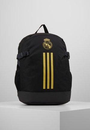 REAL MADRID - Rucksack - black/dark gold