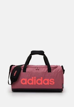 ESSENTIALS LINEAR SPORT DUFFEL BAG UNISEX - Sports bag - tramar/black/signal pink