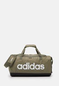 adidas Performance - ESSENTIALS LINEAR SPORT DUFFEL BAG UNISEX - Sports bag - green - 1