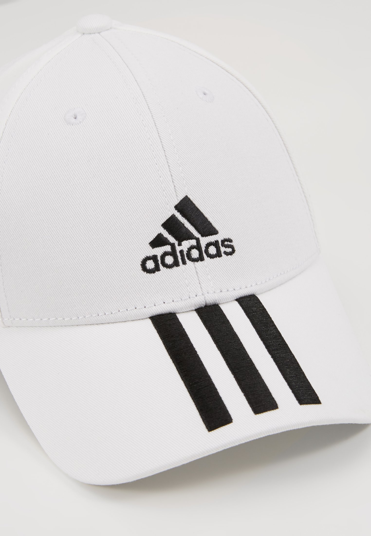 adidas Performance - 3STRIPES BASEBALL COTTON TWILL SPORT - Gorra - white/black/black