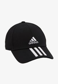 adidas Performance - 3STRIPES BASEBALL COTTON TWILL SPORT - Lippalakki - black/white/white - 1