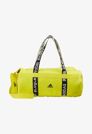 4ATHLTS ESSENTIALS 3STRIPES SPORT DUFFEL BAG - Torba sportowa - shock yellow/white/black